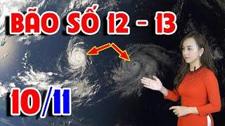 ⚡Khẩn cấp ⛔ Tin Bão mới nhất - Bão số 12-13 | Tin mới nhất cơn bão số 12