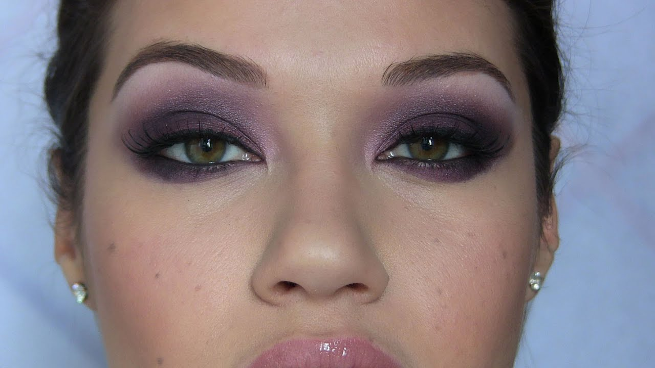 Dark Purple Smoky Eye Makeup Tutorial Youtube