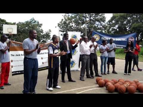 Africa Outreach USA - Presentation of Basketballs Donated By The Pacers Foundation