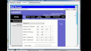 Linksys Wireless Router in Packet Tracer - Part 2