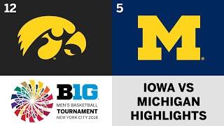2018 Big Ten Men's Basketball Tournament: Iowa vs. Michigan