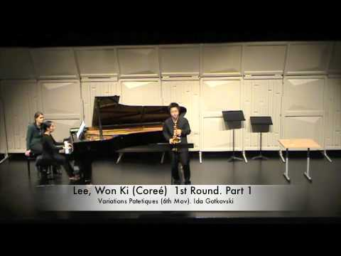 Lee, Won Ki (Coreé) 1st Round. Part 1