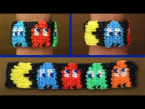 Rainbow Loom Nederlands - Pacman Armband || Loom bands, rainbow loom, tutorial, how to