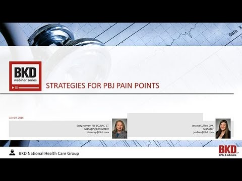 Strategies for PBJ Pain Points