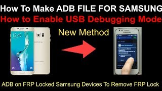 How to Make FRP Bypass ADB Enabled Combination Firmware/Flash File