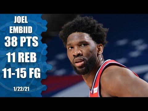 Joel Embiid drops 38 and 11 on the Celtics {HIGHLIGHTS] | NBA on ESPN