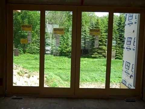 Accent Homes 4-Wide patio door. New Model Home