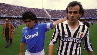 Michel Platini Vs Maradona 1986 - Juventus x Napoli