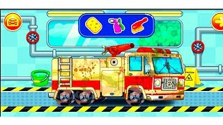 Car Wash |Cartoon For Children | Police car wash | Trucks Kids Show | Car Cartoons For Toddlers
