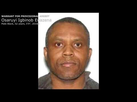 Osaruyi ENAZENA Wanted by the Toronto Police Fugitive Squad