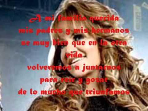 Jenni Rivera Cuando Muere una dama (letra)( lyrics)