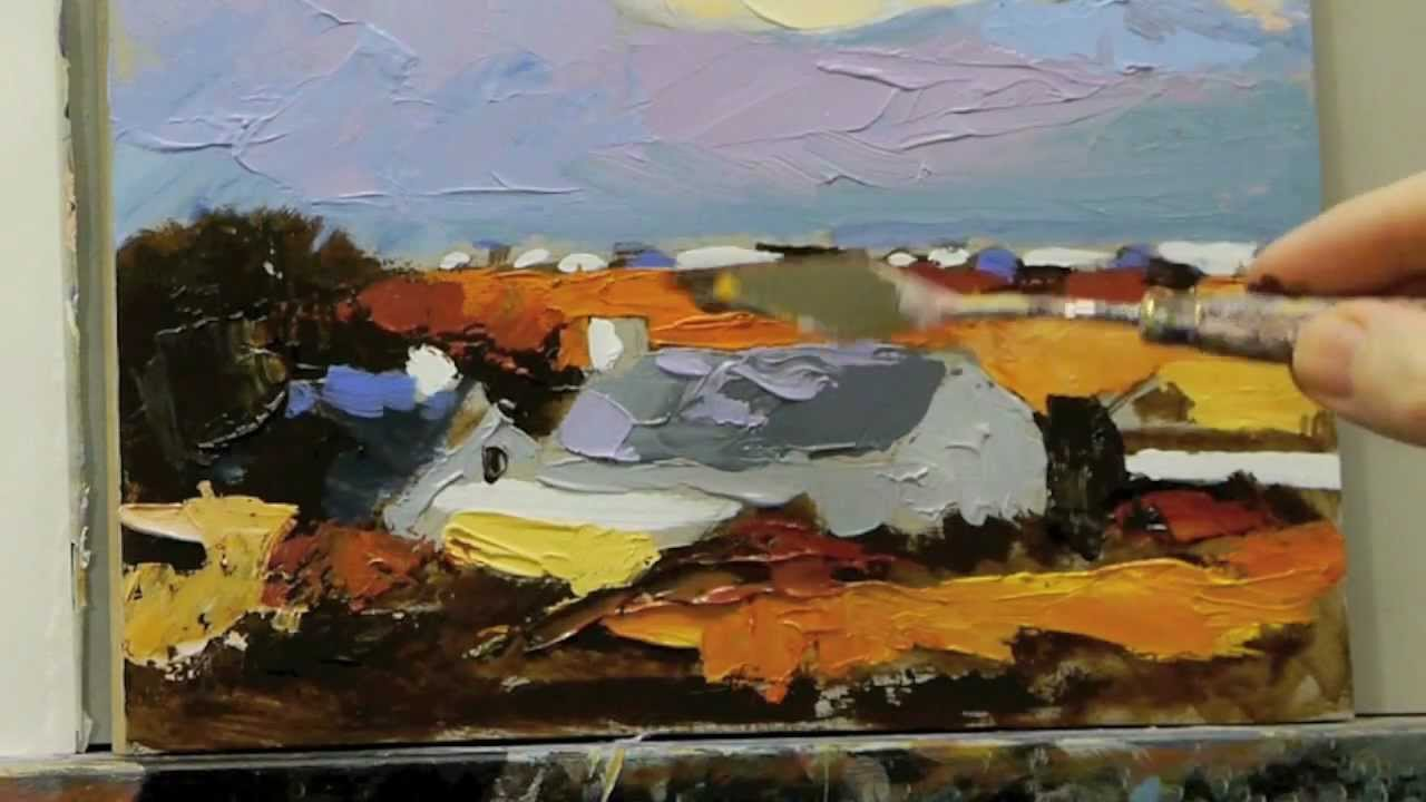 Acrylic Palette Knife Painting Techniques Lesson 3 Of 4