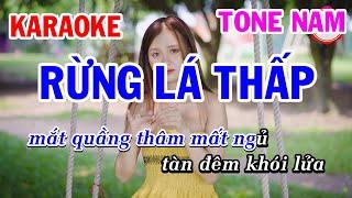 Karaoke Rừng Lá Thấp Tone Nam Nhạc Sống | Mai Thảo Organ