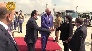 رئيس الوزراء يستقبل بمطار القاهره رئيس وزراء البانيا