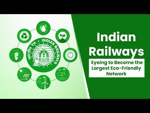 Indian Railways: Net-Zero Carbon Emission by 2030 | Green Railways | RailMitra