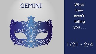 GEMINI: What they aren't telling you . . . 1/21 - 2/4