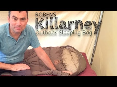 video Robens Killarny Sleeping Bag: A duvet style sleeping bag with retro looks