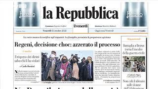 Rassegna stampa, i giornali del 15 ottobre