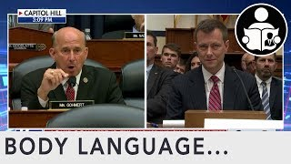 Body Language: Peter Strzok Congressional Hearing