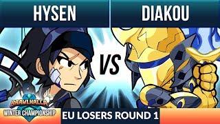Diakou vs Hysen- L Round 1 - Winter Championship EU 1v1 Top 8