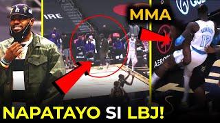 Na-HYPE si LeBron James, NAGKAGULO na  parang MMA ang nangyari! | Lakers vs Raptors