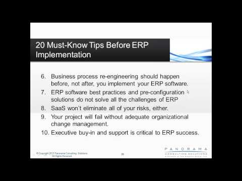 20 Must-Know Tips Before ERP Implementation