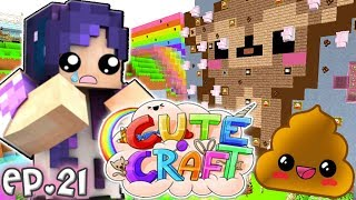 POOP isn't CUTE!! | CuteCraft Minecraft SMP - Ep. 21
