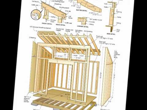 Flat Roof Shed Plans 8x12 storage building kits – Garden Shed Plans 8X12