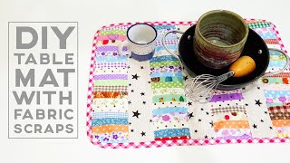 Fabric scraps projects | Patchwork for beginners | 拼布教学分享#HandyMum  ❤❤