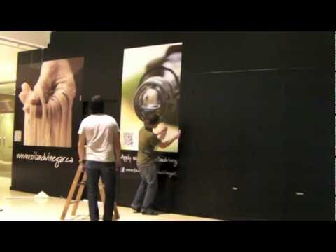 BetaCuts Custom Vinyl Design - Installation of 350 square feet of printed vinyl