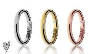 FINGERPRINTS WEDDING BANDS