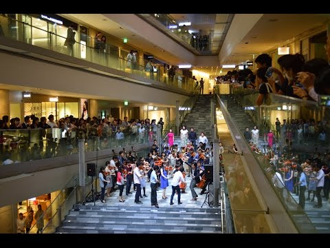 """徳島第九フラッシュモブ Flash mob """"Beethoven's Symphony No. 9"""""""