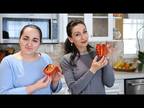 Rice Stuffed Peppers Recipe - Heghineh Cooking Show with Lilyth