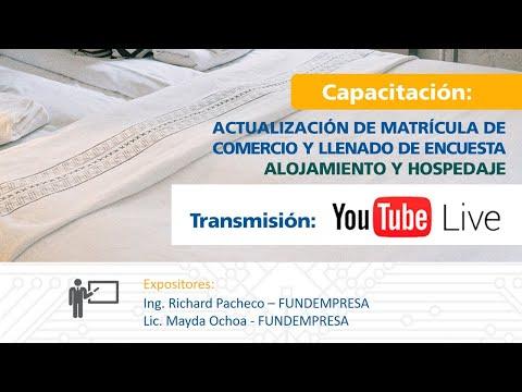 Actualización de Matrícula de Comercio - SERVICIO DE TRANSPORTES, ALOJAMIENTO Y HOSPEDAJE