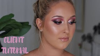HIGHLY REQUESTED PINK GLAM || CLIENT TUTORIAL #7
