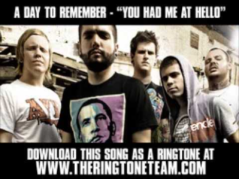 You Had Me At Hello - A Day To Remember - VAGALUME A Day To Remember Lyrics You Had Me At Hello