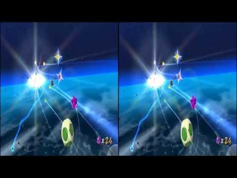Super Mario Galaxy, Dino Piranha and fly aorund 3D