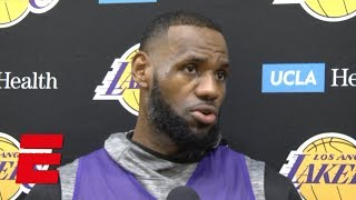 LeBron: Addition of Tyson Chandler 'helps for our young guys' | NBA Interviews