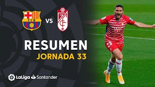 Resumen de FC Barcelona vs Granada CF (1-2)