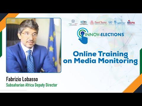 E-formation à la surveillance des médias - Directeur adjoint de l'Afrique subsaharienne, Amb. Fabrizio Lobasso