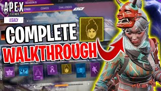 Season 9 FULL BATTLEPASS WALKTHROUGH! All SKINS, BANNERS, QUIPS And MORE! - Apex Legends Legacy