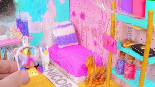 DIY Miniature Magical Unicorn Dollhouse Room