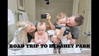 BEASTON FAMILY VLOGS 2017// FIRST FAMILY OF 4 ROAD TRIP // HERSHEY PARK