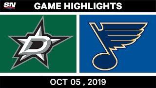 NHL Highlights   Stars vs. Blues – Oct. 05, 2019