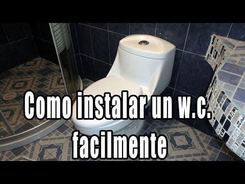 Como instalar taza de ba o w c retrete inodoro - Retrete leroy merlin ...