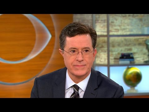 Stephen Colbert talks Donald Trump, Super Bowl