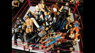 WWE FIGURE COLLECTION + CUSTOMS!! SMACKDOWN | RAW