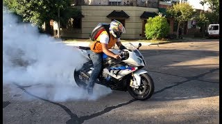 BMW S1000RR \ HP4 -  Burnout, Street Racing, Full  Speed, Launch Control, 180+ MPH