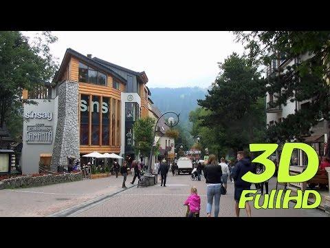 [3D] Krupowki street / Krupówki, Zakopane, Poland / Polska