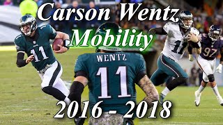 Carson Wentz Mobility Highlights Before and After ACL Injury | Scrambles and Elusiveness Compilation